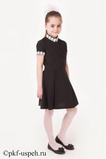 Платье для девочки с коротким рукавом черное