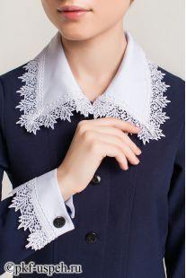 белые воротник и манжеты для платья в школу
