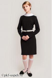 Платье школьное Виктория черное