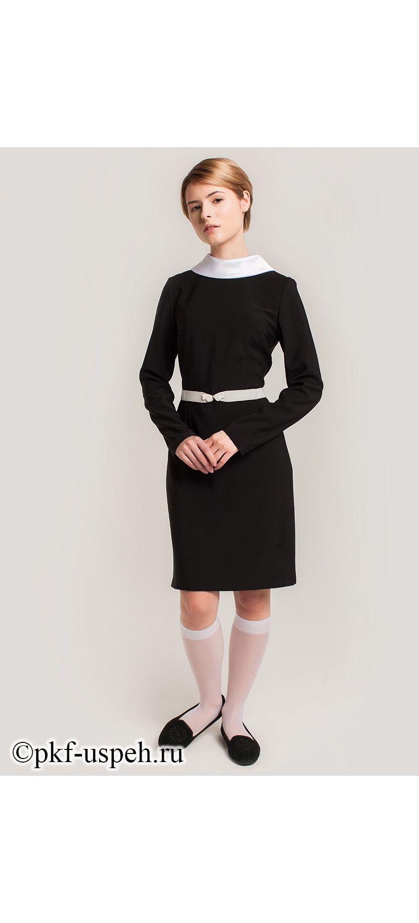 Школьное черное платье 73