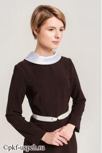 Платье школьное Виктория коричневое