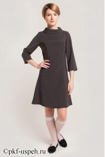 Платье школьное Ольга серое