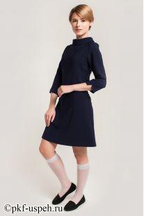 Платье школьное Ольга синее