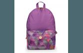 Рюкзак молодежный с пуговицей фиолетовый