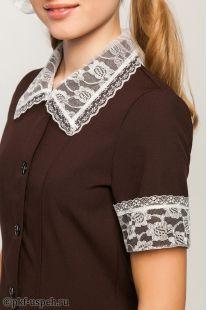 воротник с манжетами на школьное платье из гипюровой ткани