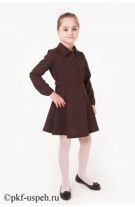 Школьное платье детское с длинным рукавом