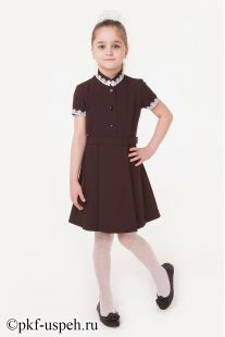 Платье для девочки с коротким рукавом