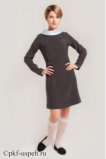 Платье школьное Ирина серое