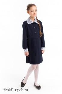 Платье школьное с воротником для девочки