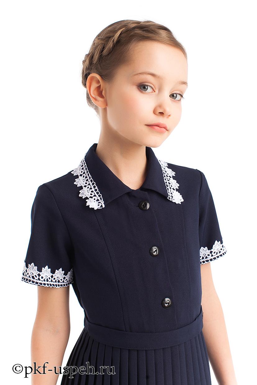 548c2d26332 Платье школьное синее