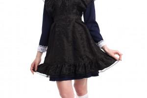 Черные школьные фартуки, новые модели