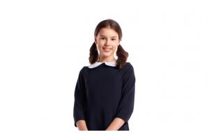 Синее школьное платье с воротником. ТОП-3 бренда Форма Успеха
