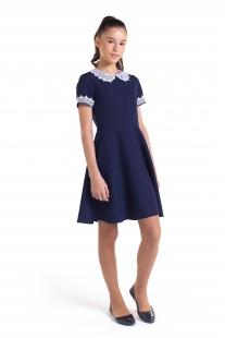 Платье для девочки с воротником и манжетами