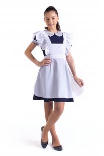 комплект платье синее с фартуком Грация