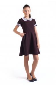 """Школьное платье """"Амели"""" коричневое"""