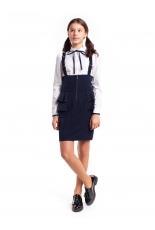 """Школьная юбка синего цвета """"Глория"""""""
