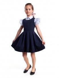 красивый сарафан синий Лиза в школу