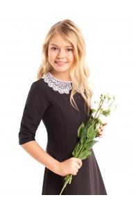"""Школьное платье для подростков """"Сабина"""" коричневое"""