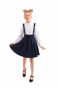 "Школьная юбка-сарафан синего цвета ""Кристина"""