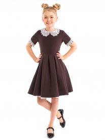 Платье для девочки Полинка коричневое