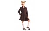 """Школьная форма платье """"Кира"""" коричневое"""