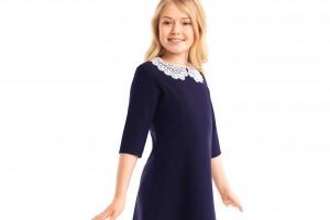 Школьное синее платье, как выбрать