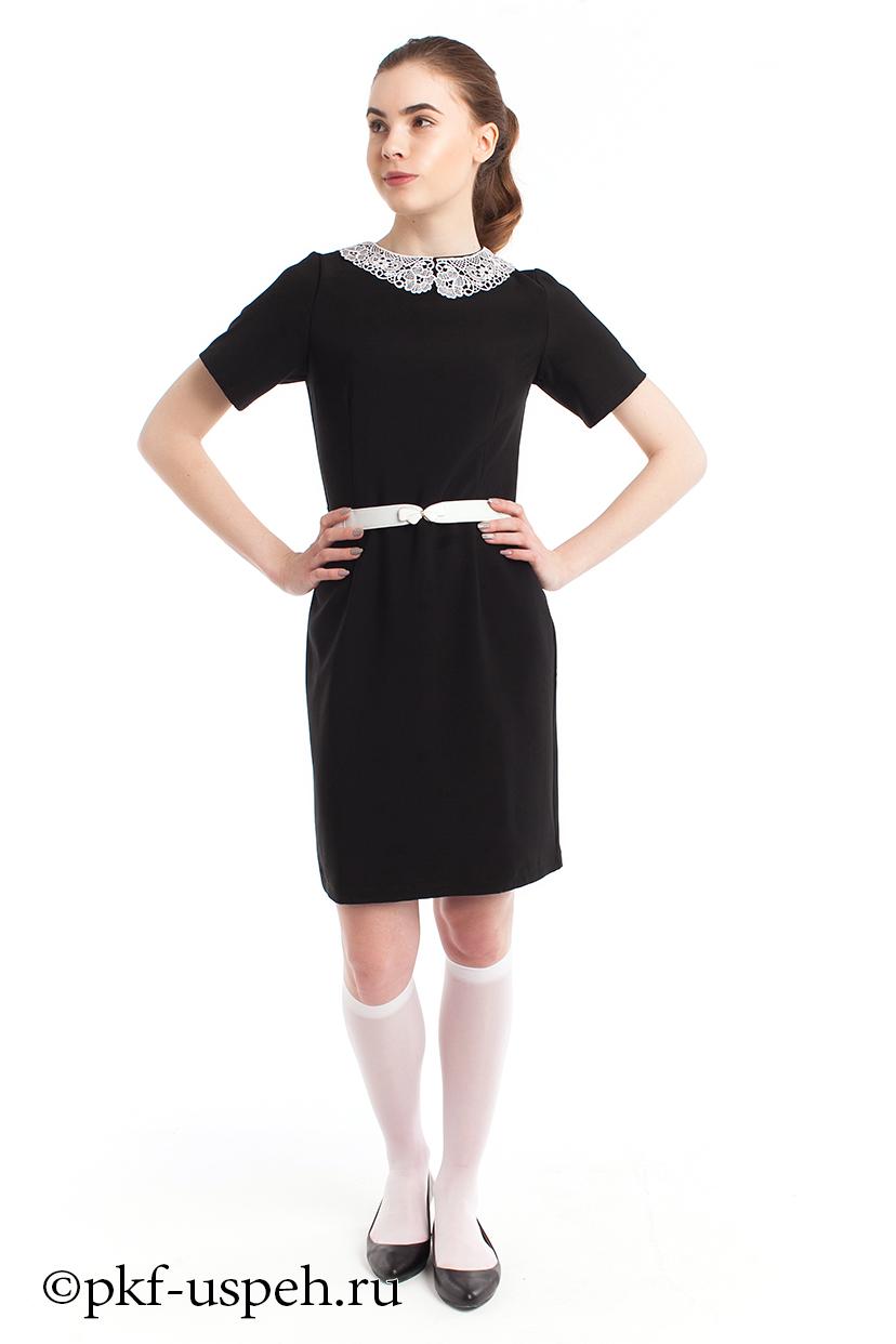 4ec5fbb8a66 Школьное платье с воротником