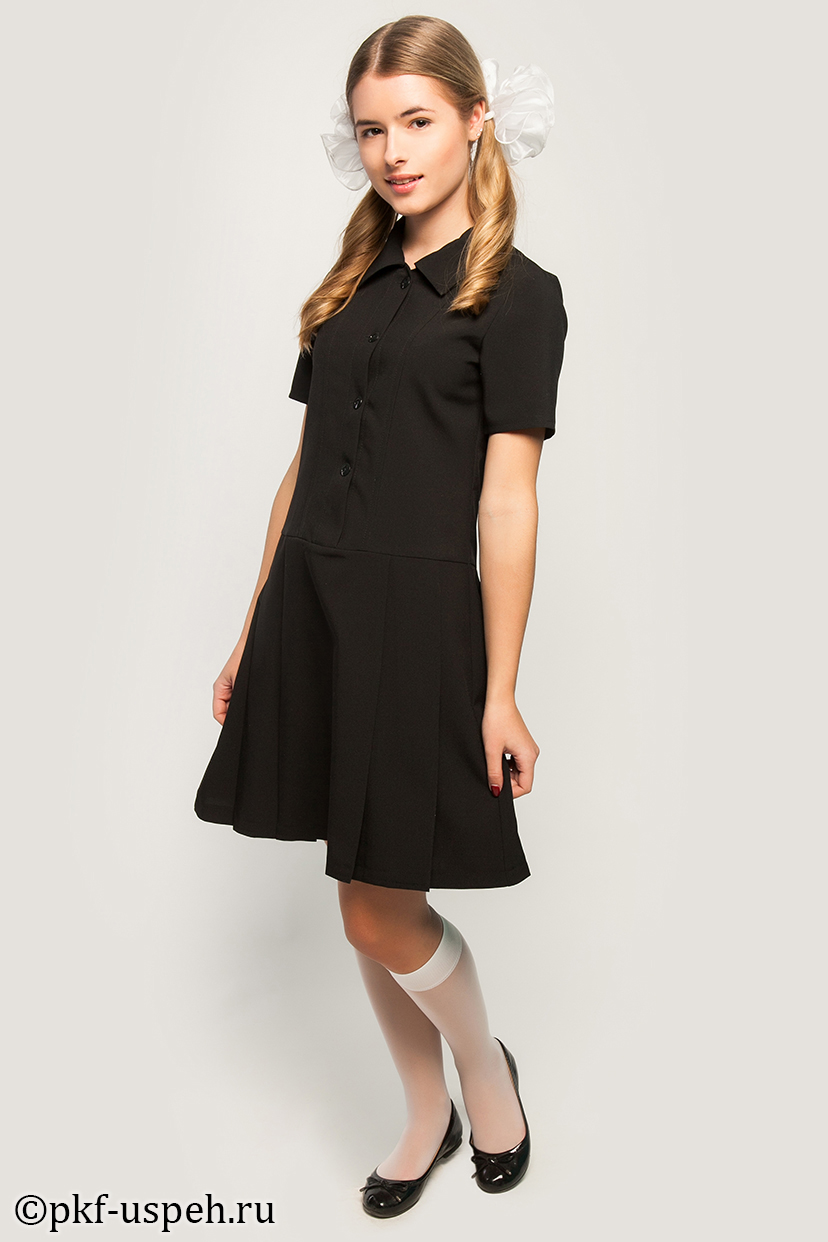 Школьное платье черное купить в